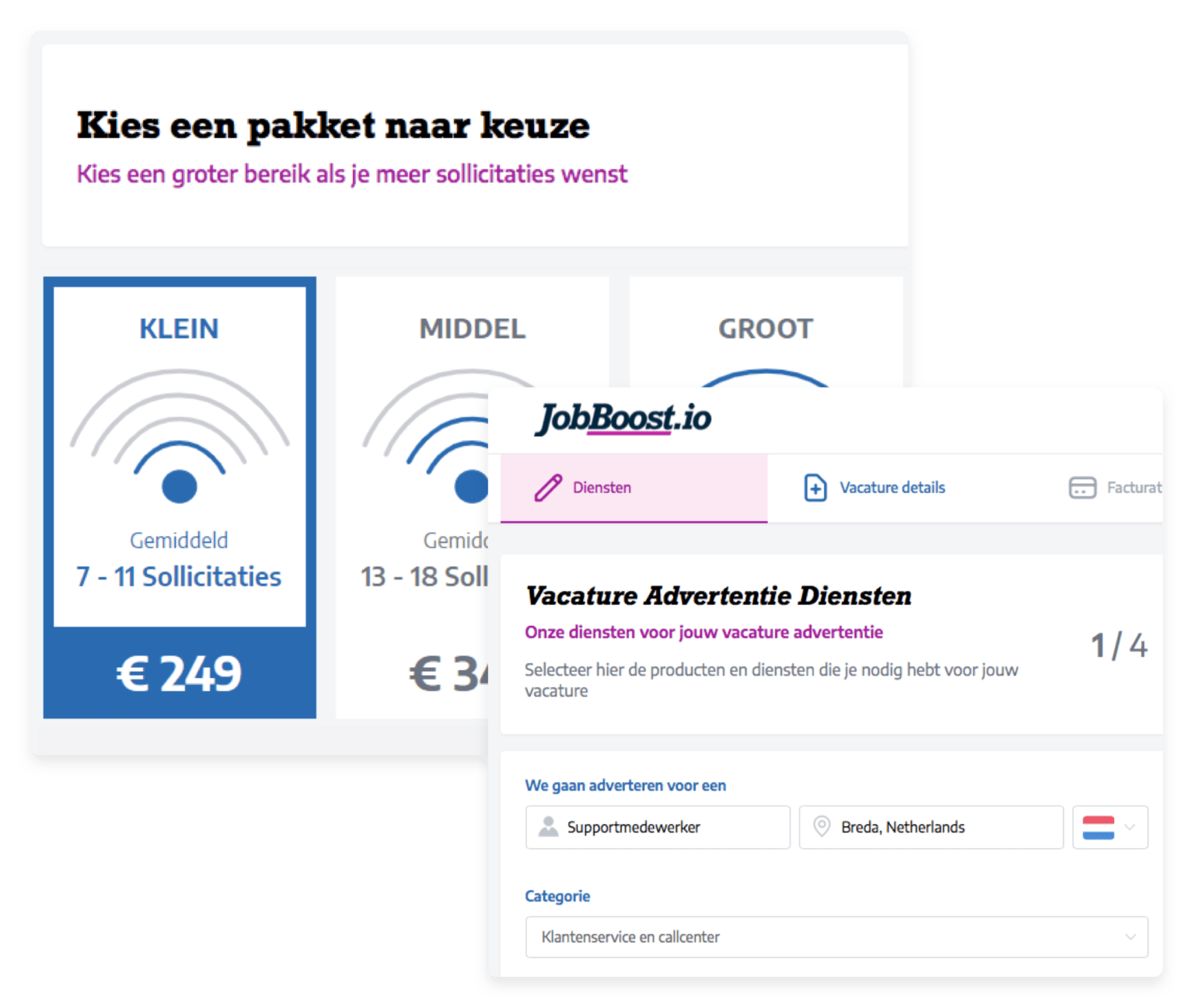 jobboost screenshot